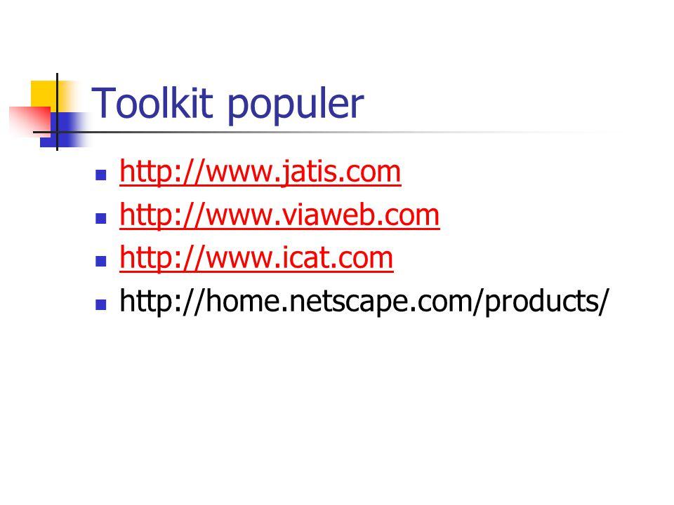 Setup sebuah e-toko Kemudahan & kesederhanaan. Kemudahan & effisiensi katalog.