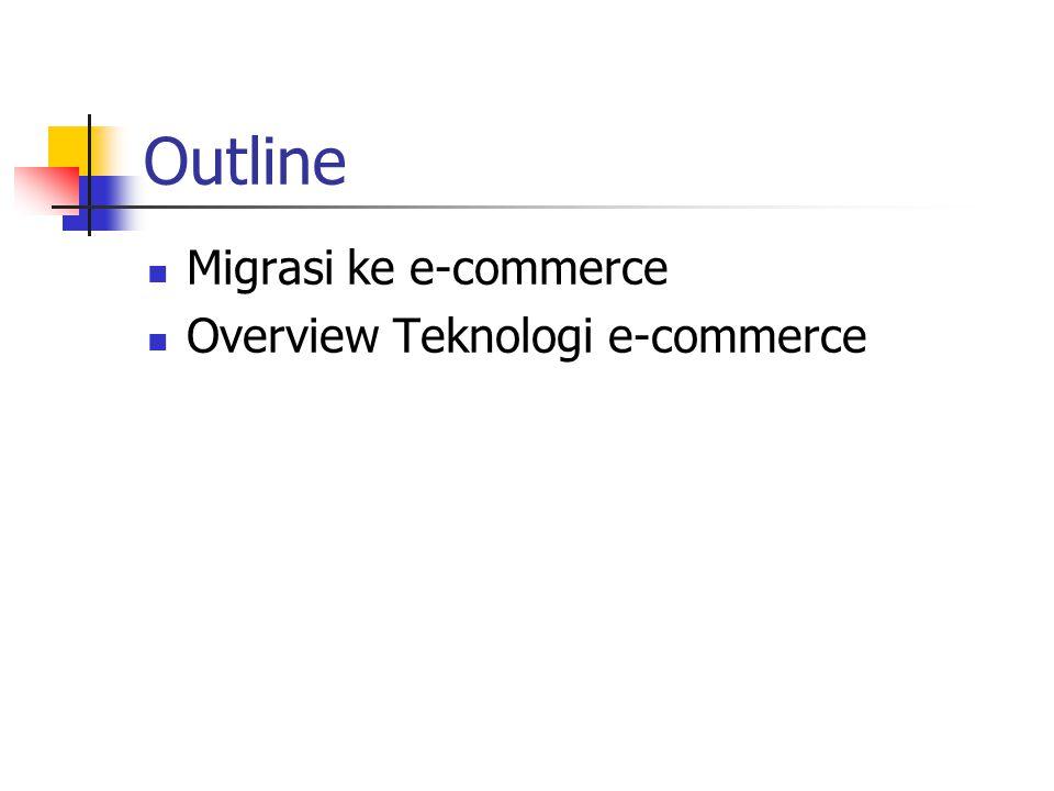 Outline Migrasi ke e-commerce Overview Teknologi e-commerce