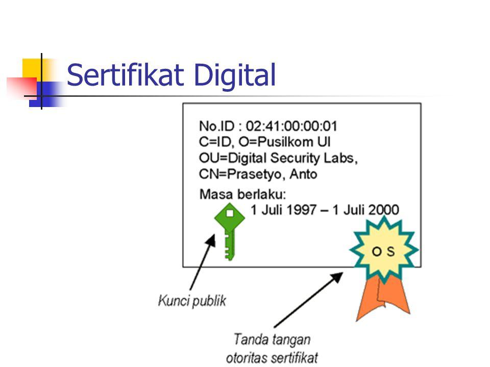 Sifat tanda tangan digital Otentik bisa dijadikan barang bukti di pengadilan.