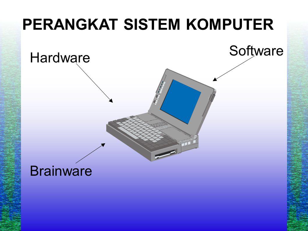 PERANGKAT SISTEM KOMPUTER Hardware Brainware Software