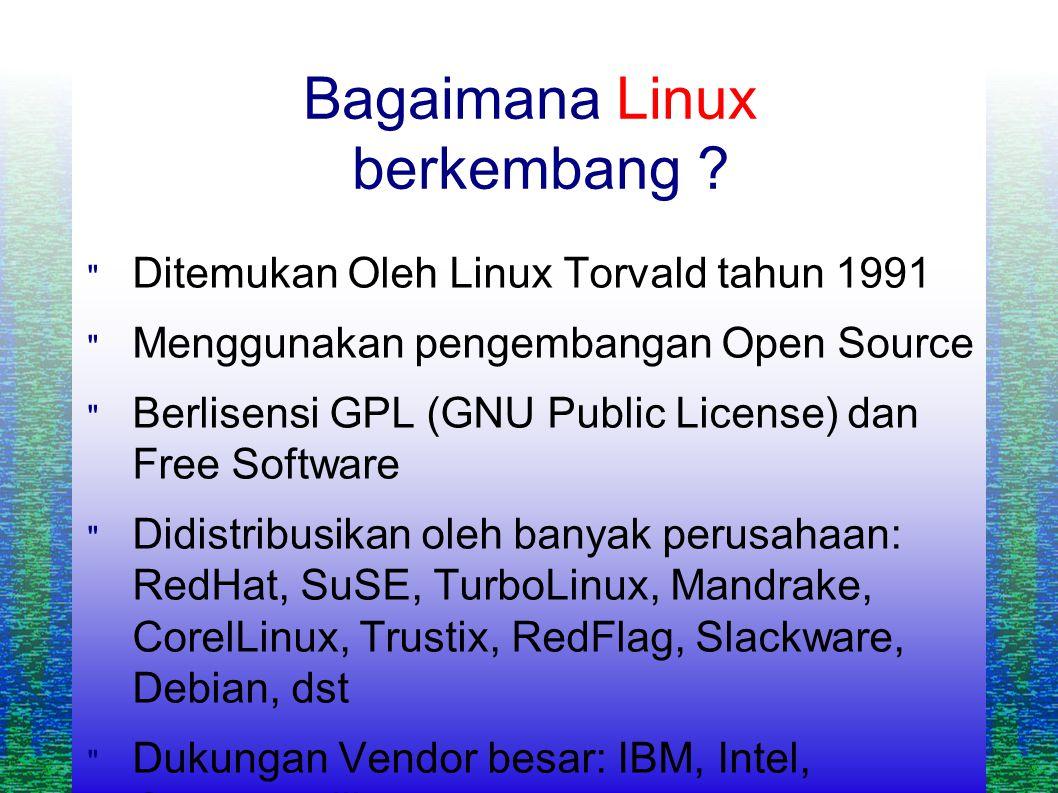Bagaimana Linux berkembang .