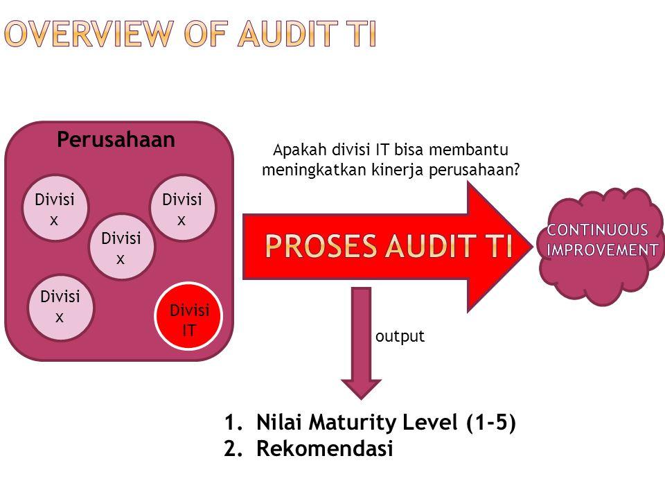  IT Audit  sering disebut dengan:  IT Risk Management  I.S.