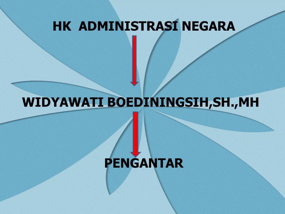HK ADMINISTRASI NEGARA WIDYAWATI BOEDININGSIH,SH.,MH PENGANTAR