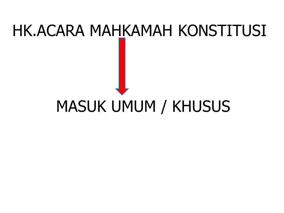 HK.ACARA MAHKAMAH KONSTITUSI MASUK UMUM / KHUSUS