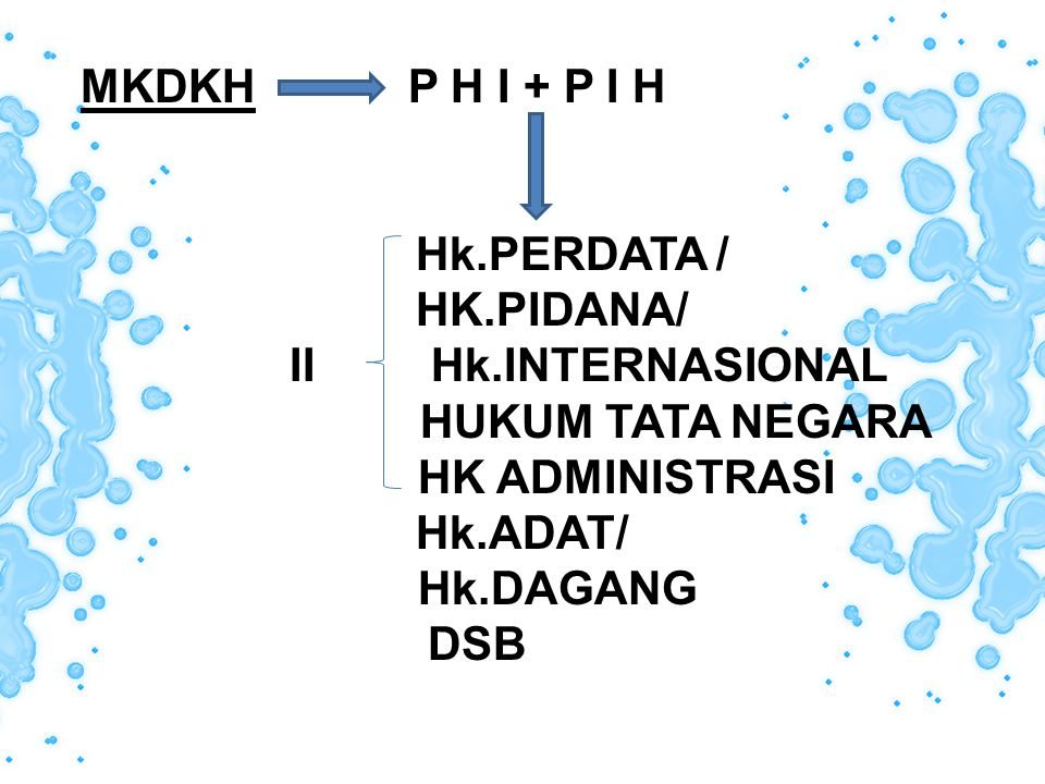 a>Hukum Perdata / Burgerlijk Recht : Rangkaian peraturan2 Hukum yang me ngatur hubungan hukum antara orang yang satu dengan orang lain,dengan menitikberatkan kepada kepentingan perseorangan BW (BURGERLIJK WETBOEK ) / KHUS /KITAB UNDANG-UNDANG HK SIPIL