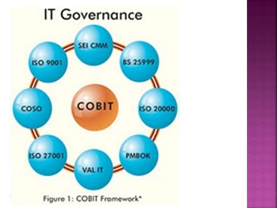  ISO 20000 - ISO20000 digunakan sebagai sistem pengendalian internal untuk mengelola layanan TI sementara COBIT akan digunakan untuk menilai Resiko, kendali dan Tata TI dan memberikan kepastian tentang kecukupan dan efisiensinya.
