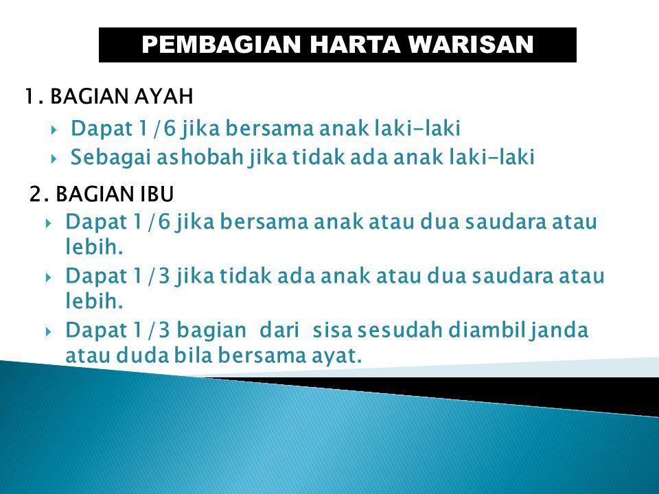 PEMBAGIAN HARTA WARISAN 1.