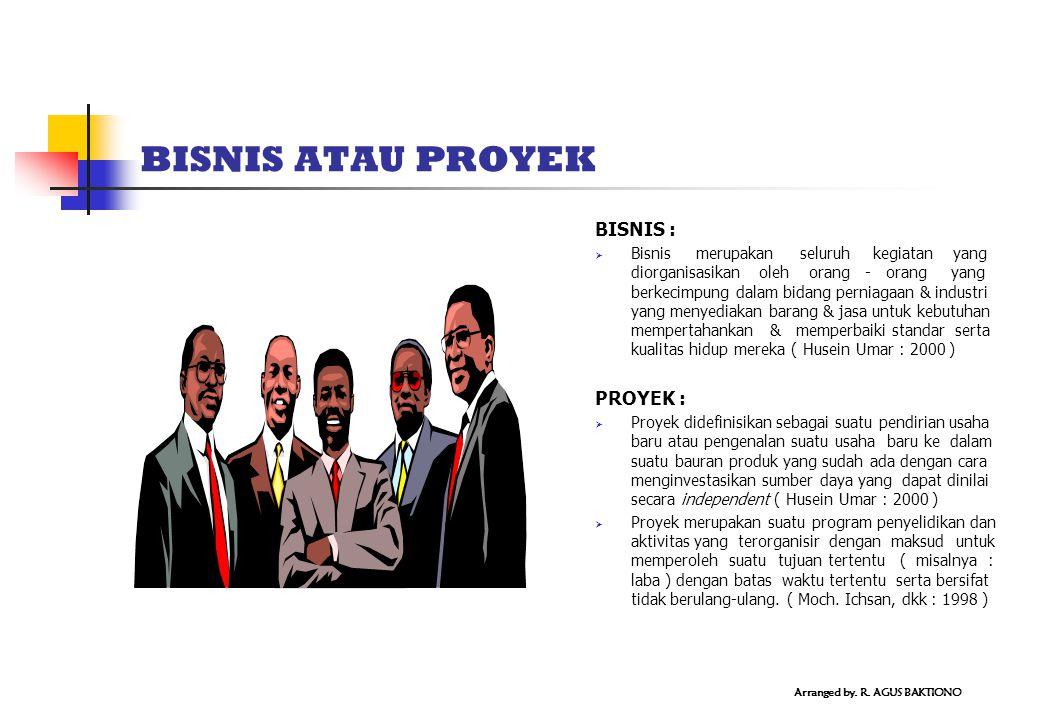 BISNIS ATAU PROYEK BISNIS :  Bisnis merupakan seluruh kegiatan yang diorganisasikan oleh orang - orang yang berkecimpung dalam bidang perniagaan & in