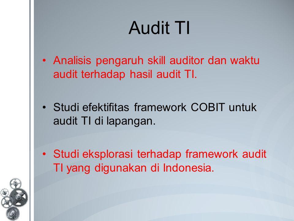 Audit TI Analisis pengaruh skill auditor dan waktu audit terhadap hasil audit TI.