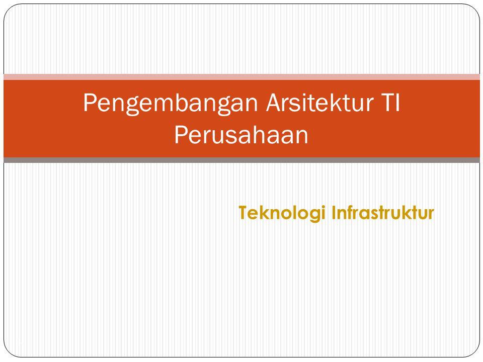 Teknologi Infrastruktur 1 Pengembangan Arsitektur TI Perusahaan