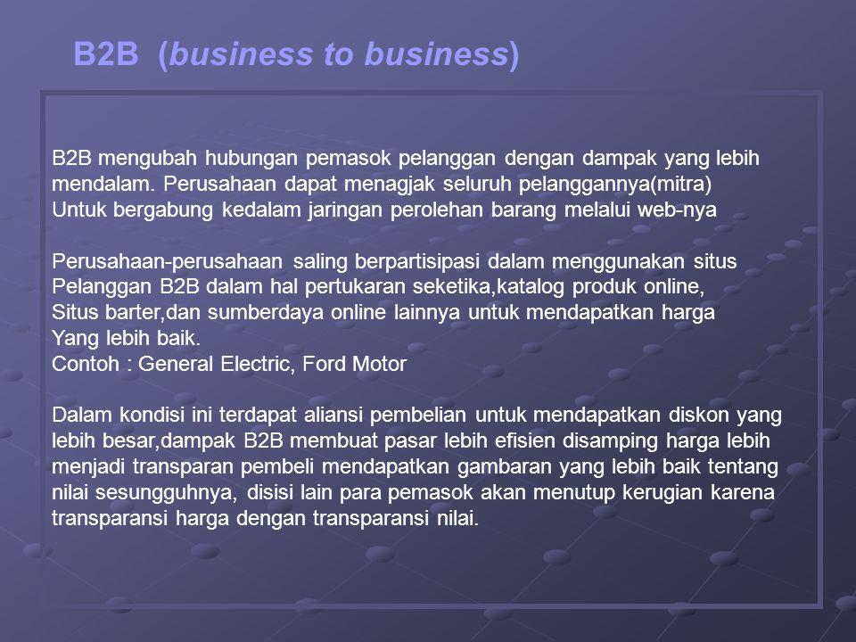 B2B mengubah hubungan pemasok pelanggan dengan dampak yang lebih mendalam.