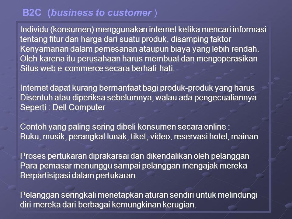 Individu (konsumen) menggunakan internet ketika mencari informasi tentang fitur dan harga dari suatu produk, disamping faktor Kenyamanan dalam pemesanan ataupun biaya yang lebih rendah.