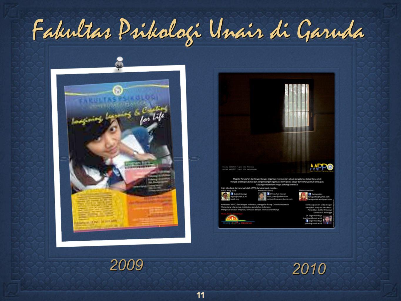 11 Fakultas Psikologi Unair di Garuda 2009 2010