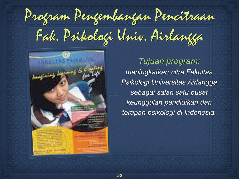 32 Program Pengembangan Pencitraan Fak. Psikologi Univ.