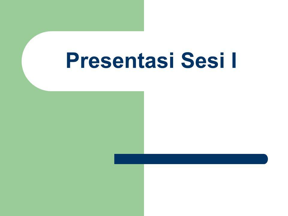 Presentasi Sesi I