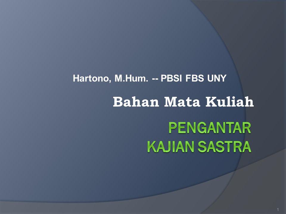 Hartono, M.Hum. -- PBSI FBS UNY 1 Bahan Mata Kuliah