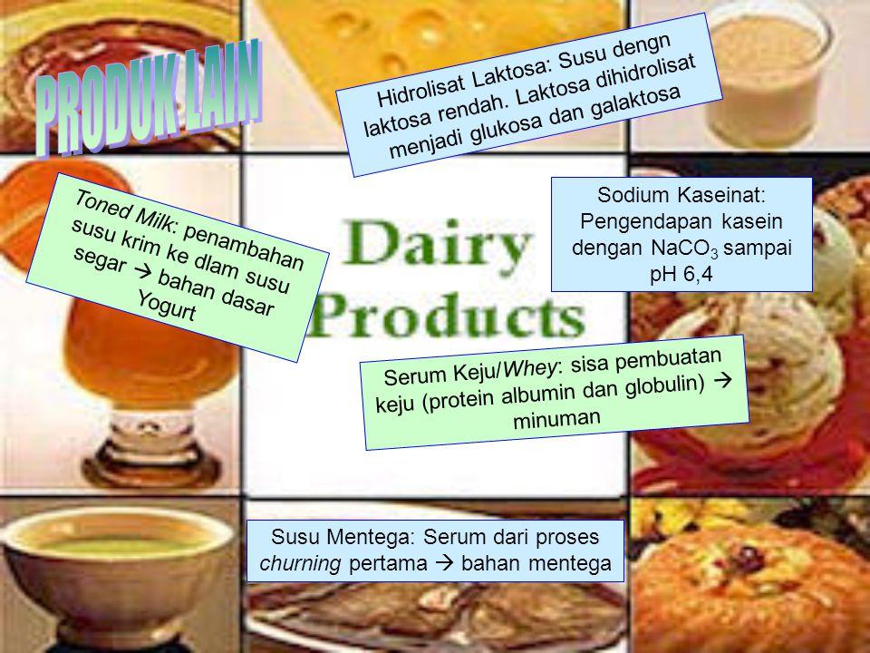 Hidrolisat Laktosa: Susu dengn laktosa rendah.