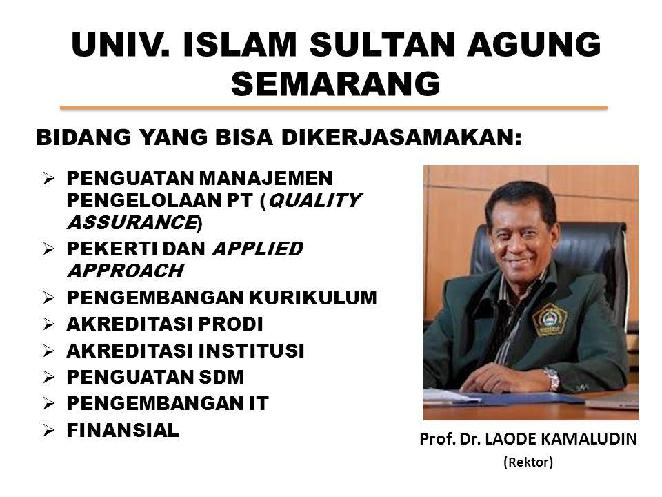 UNIV.ISLAM BANDUNG Prof. Dr. M. THAUFIQ SIDDIQ B.