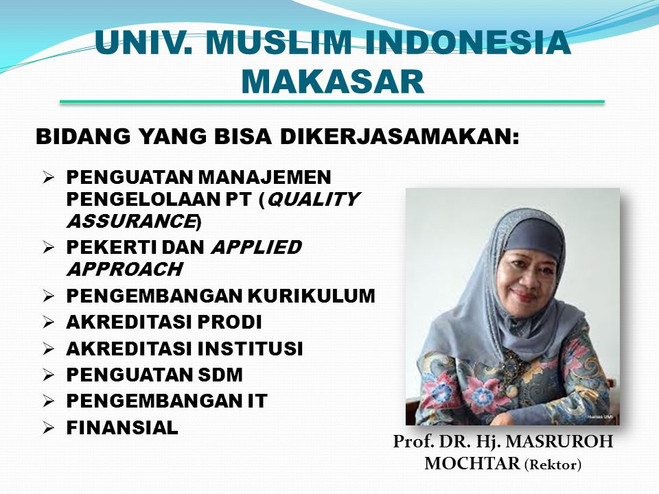 UNIV.MUSLIM INDONESIA MAKASAR Prof. DR. Hj.