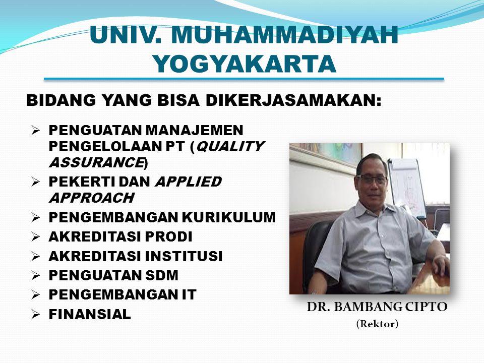 UNIV.MUHAMMADIYAH YOGYAKARTA DR.