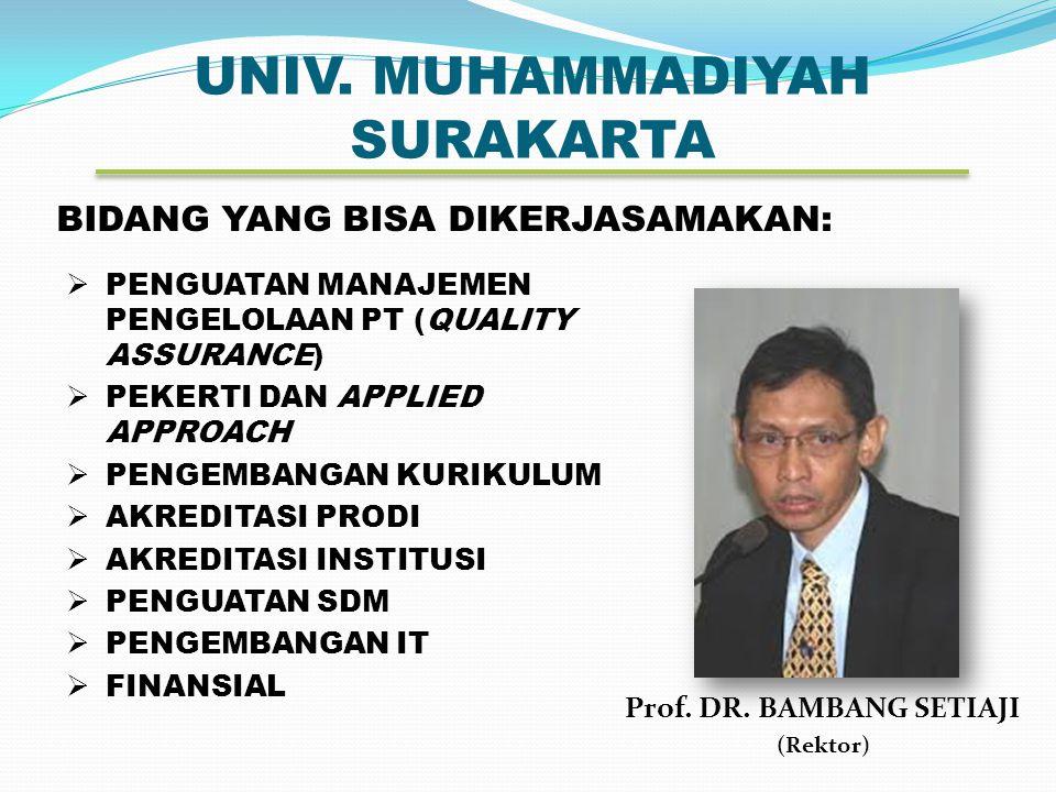 UNIV.MUHAMMADIYAH SURAKARTA Prof. DR.