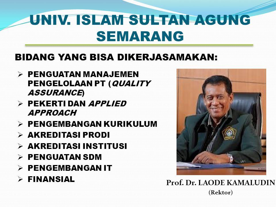 UNIV.ISLAM SULTAN AGUNG SEMARANG Prof. Dr.