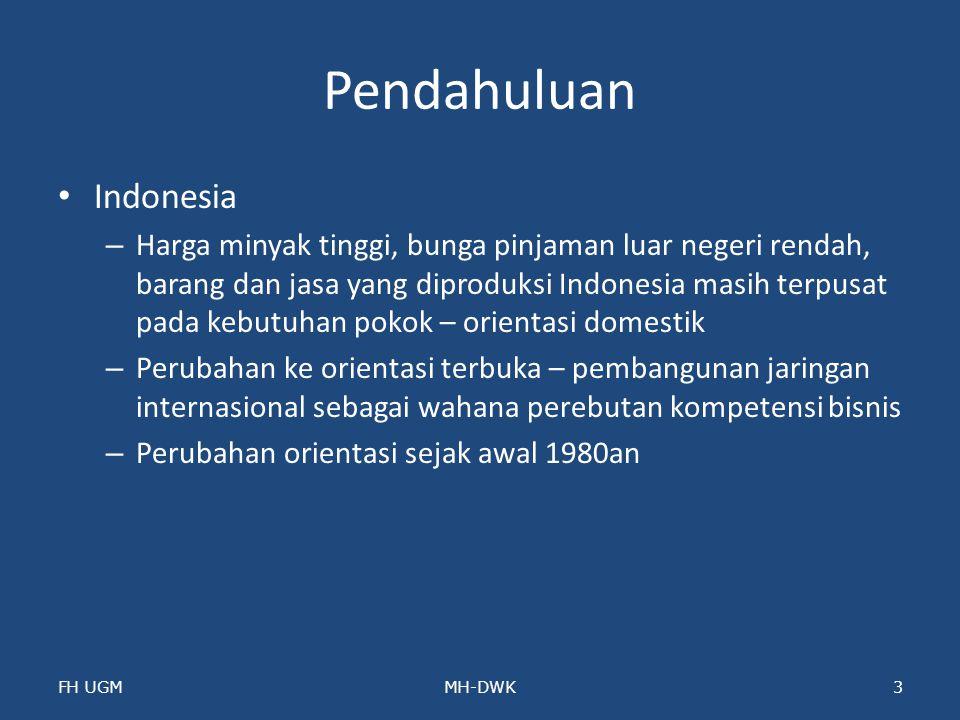 Pendahuluan Indonesia – Harga minyak tinggi, bunga pinjaman luar negeri rendah, barang dan jasa yang diproduksi Indonesia masih terpusat pada kebutuha