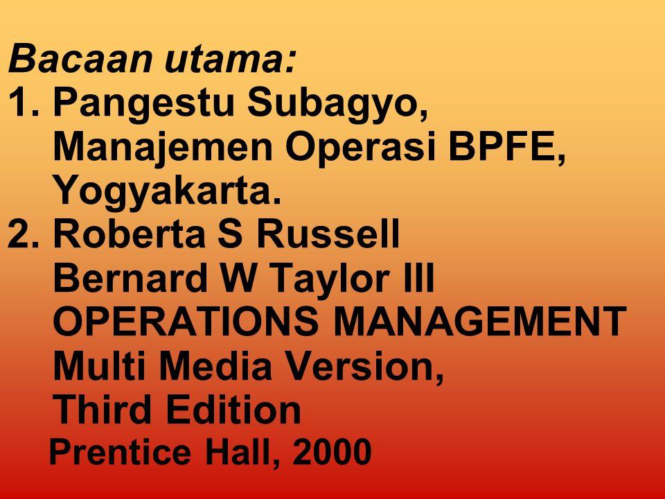 MANAJEMEN OPERASI PROGRAM S1 MANAJEMEN 2009