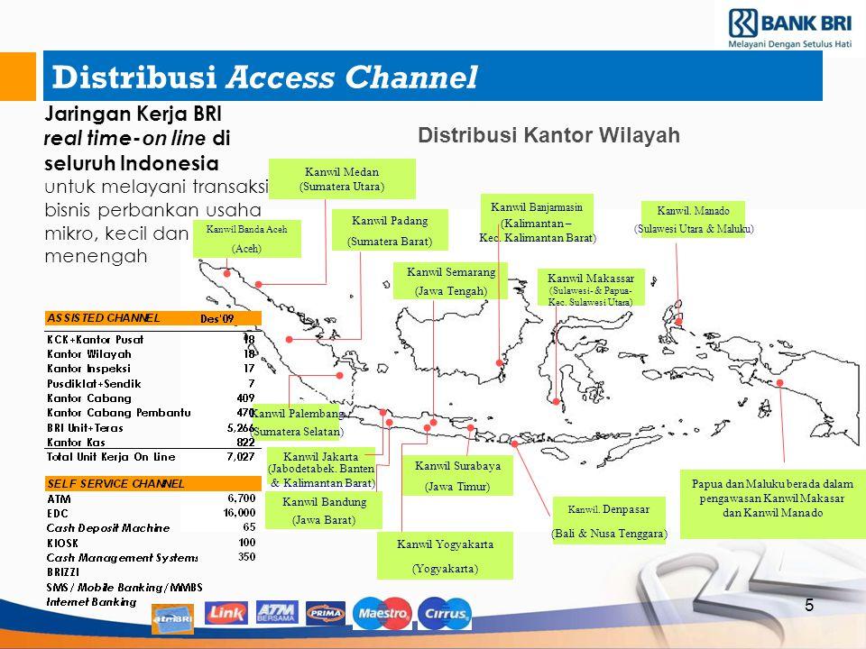 Distribusi Access Channel 5 Distribusi Kantor Wilayah March 2004 Kanwil Banda Aceh (Aceh) Kanwil Banjarmasin (Kalimantan – Kec. Kalimantan Barat) Kanw