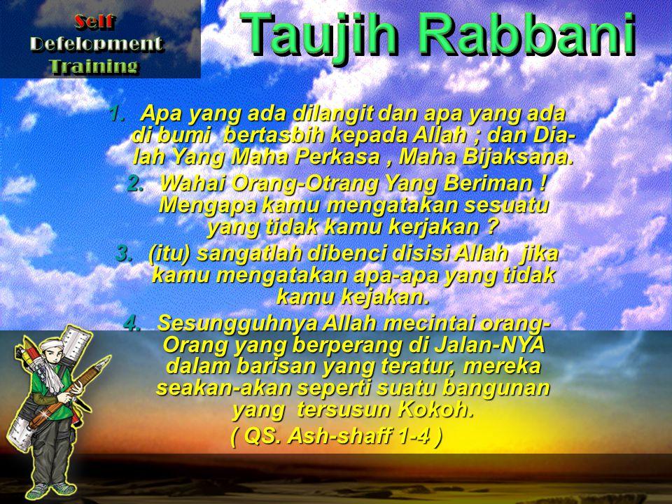 1.Apa yang ada dilangit dan apa yang ada di bumi bertasbih kepada Allah ; dan Dia- lah Yang Maha Perkasa, Maha Bijaksana.