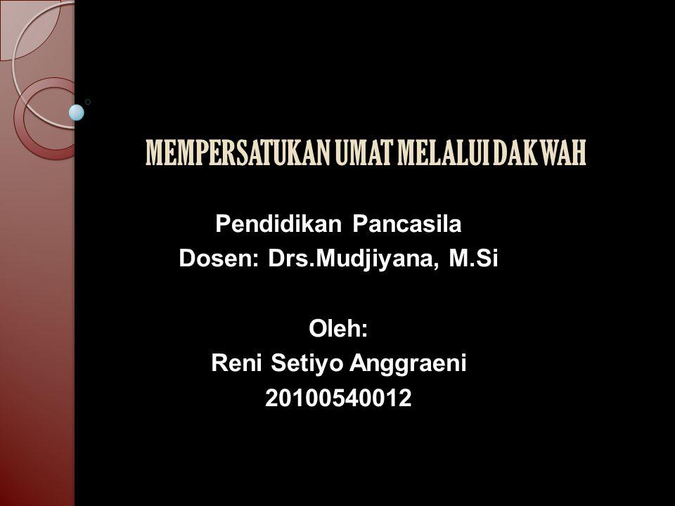 Latar Belakang Masalah Aktifitas dakwah merupakan tugas utama para pewaris Nabi (ulama) [QS.3/ Ali 'Imrân: 104].