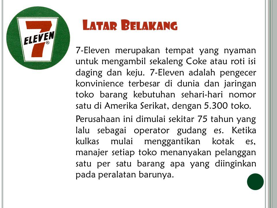 L ATAR B ELAKANG 7-Eleven merupakan tempat yang nyaman untuk mengambil sekaleng Coke atau roti isi daging dan keju.