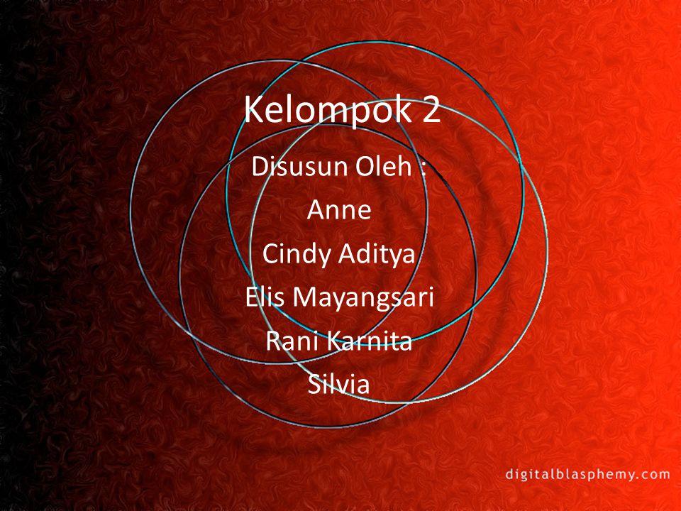 Kelompok 2 Disusun Oleh : Anne Cindy Aditya Elis Mayangsari Rani Karnita Silvia