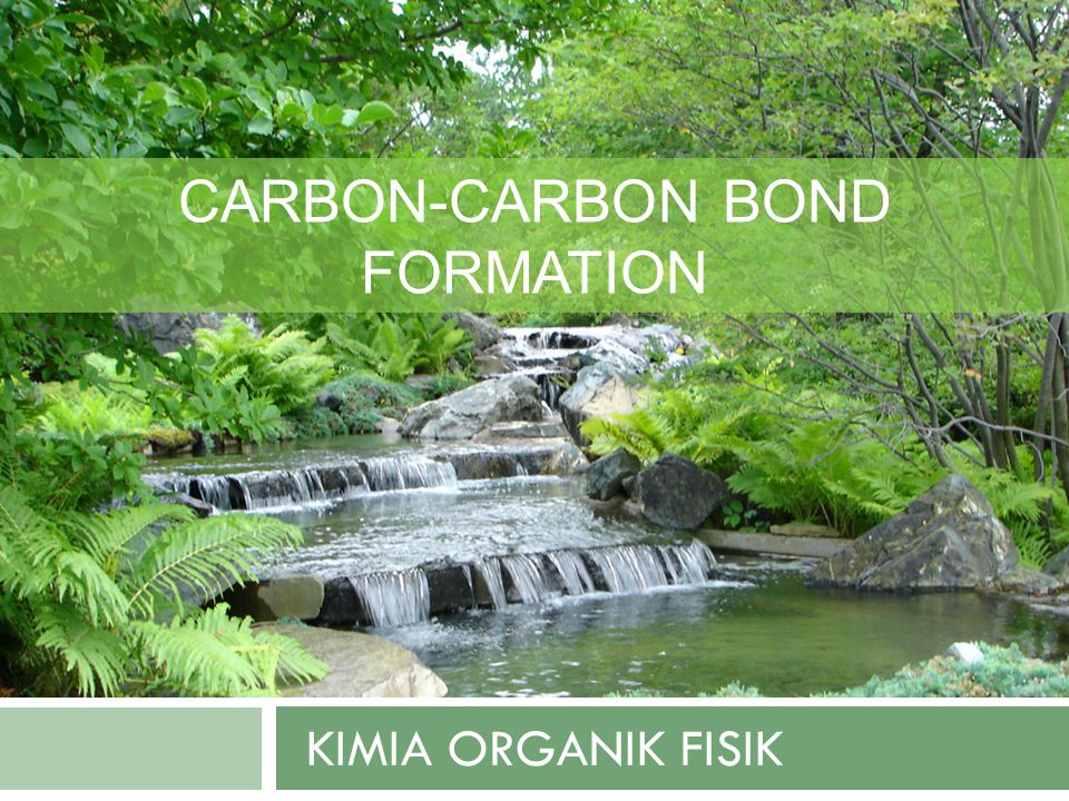 KIMIA ORGANIK FISIK CARBON-CARBON BOND FORMATION