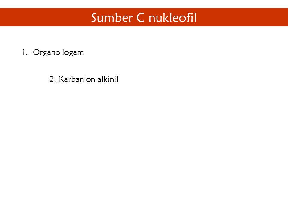 Sumber C nukleofil 1.Organo logam 2. Karbanion alkinil