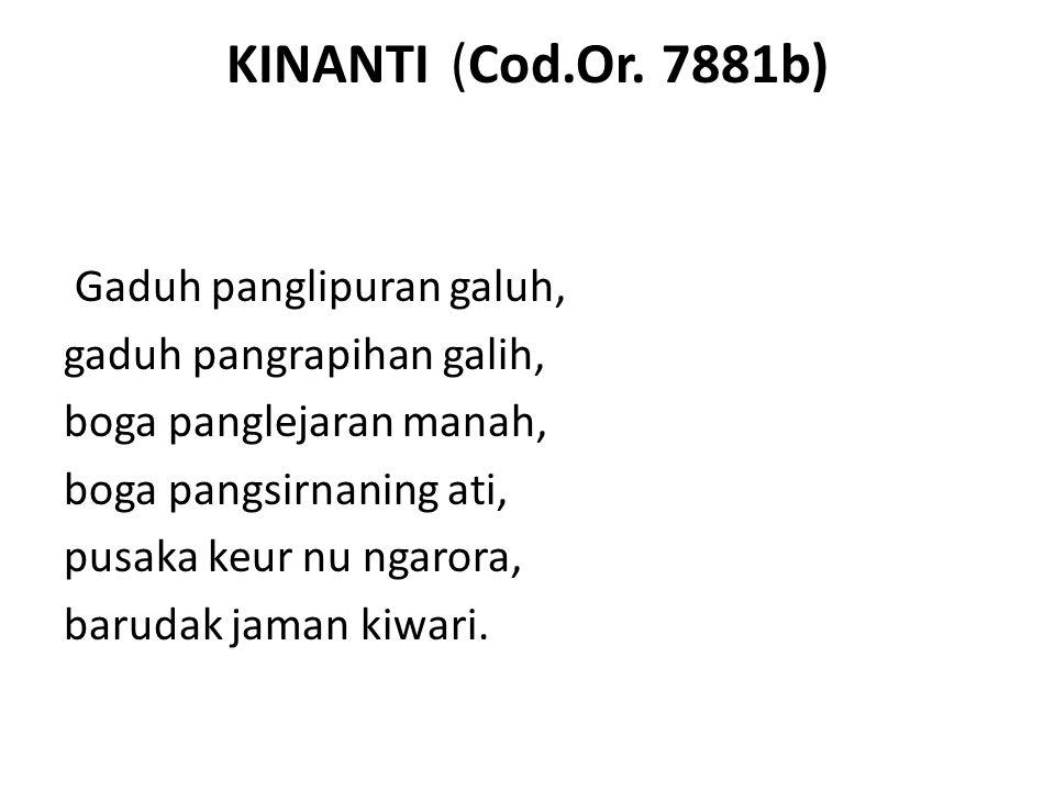 KINANTI (Cod.Or.