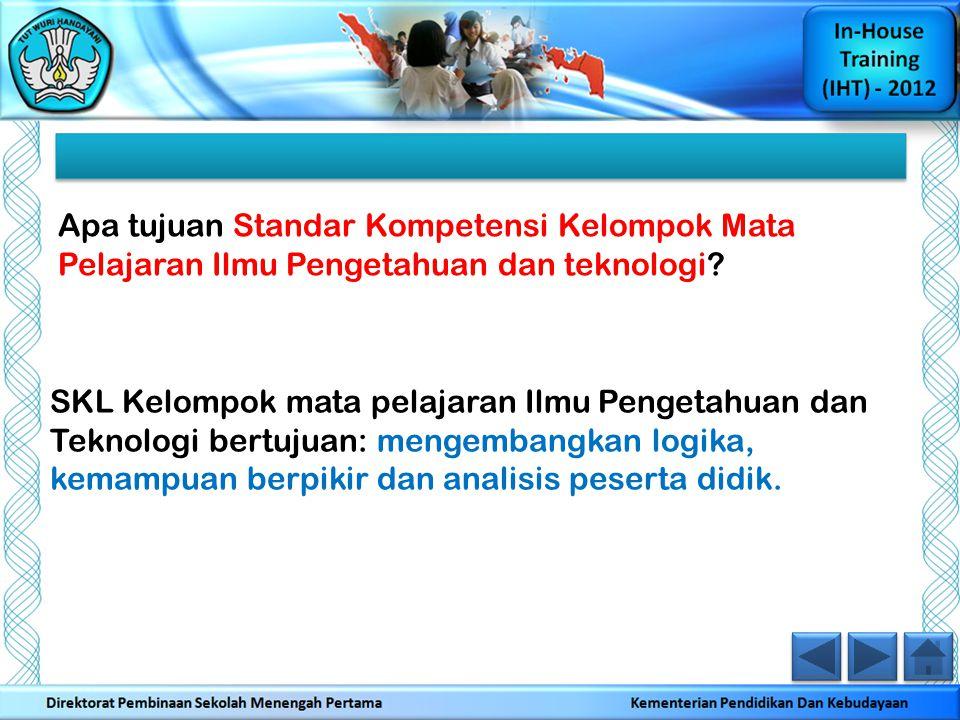 Pertanyaan Kelompok Ahli 3: Dalam dokumen resmi manakah SKL, SK dan KD Bahasa Inggris termuat.