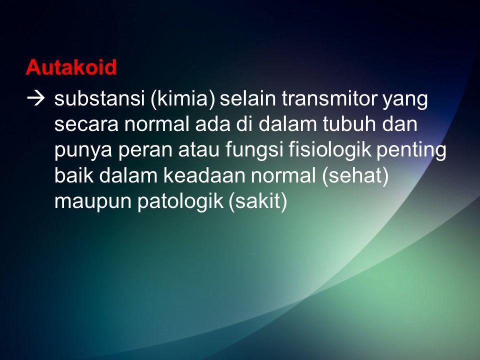 Autakoid  substansi (kimia) selain transmitor yang secara normal ada di dalam tubuh dan punya peran atau fungsi fisiologik penting baik dalam keadaan