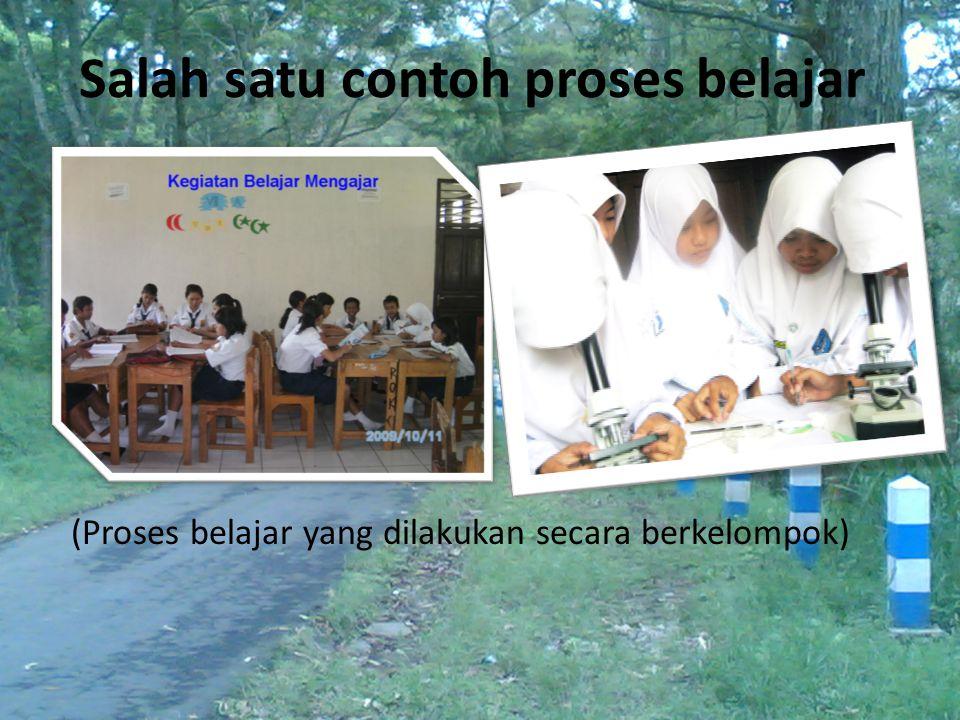 Salah satu contoh proses belajar (Proses belajar yang dilakukan secara berkelompok)