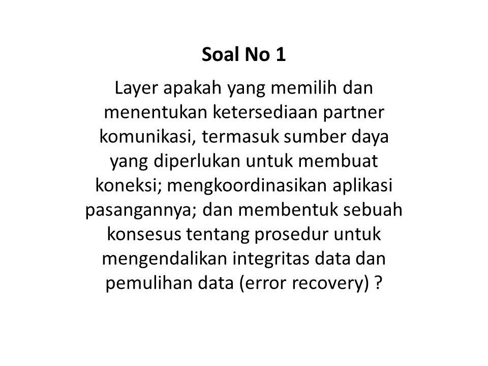 Jelaskan alasan digunakannya protokoll berlayer pada sistem jaringan? Soal No 42