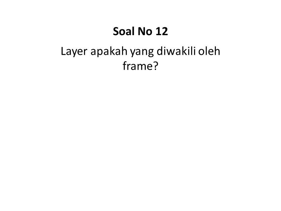 Layer apakah yang diwakili oleh frame? Soal No 12