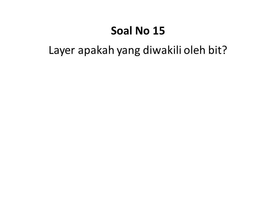 Layer apakah yang diwakili oleh bit? Soal No 15