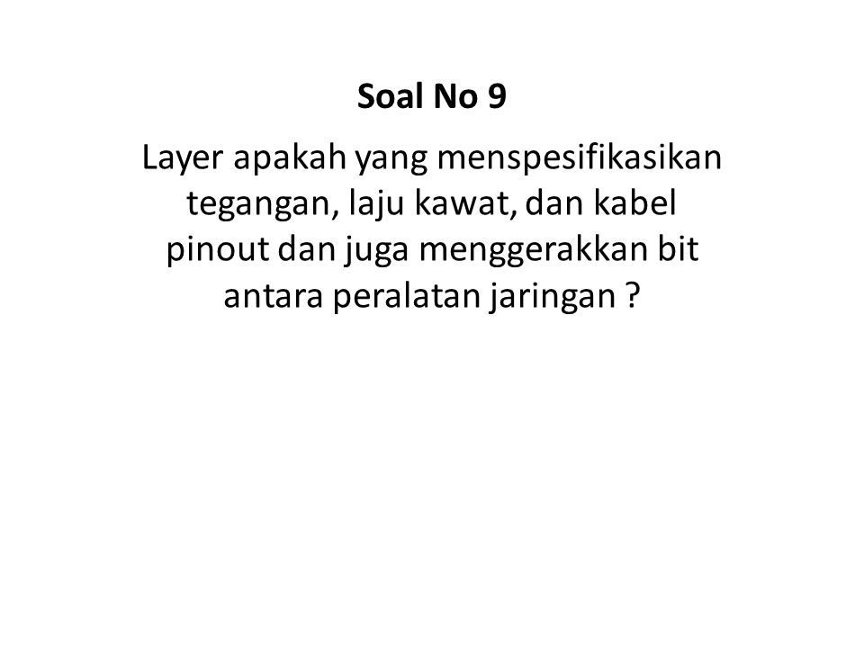 What is a protocol ? Soal No 40