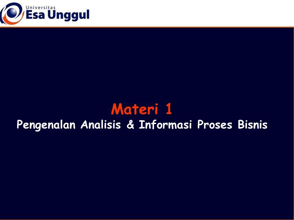 Materi 1 Pengenalan Analisis & Informasi Proses Bisnis