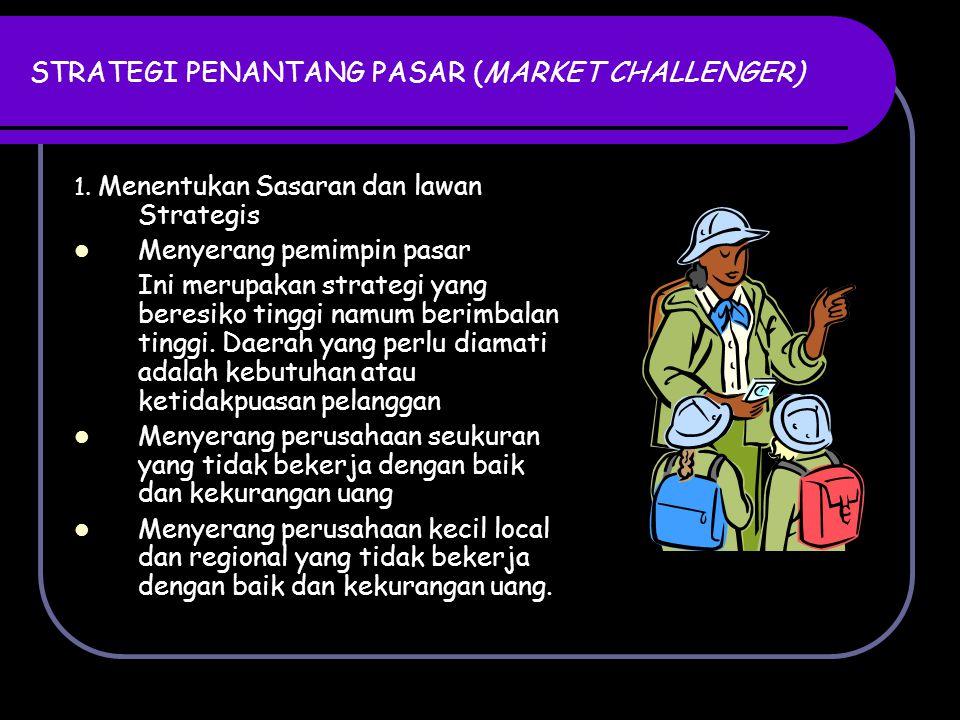 STRATEGI PENANTANG PASAR (MARKET CHALLENGER) 2.Memilih Strategi Penyerangan Umum a.