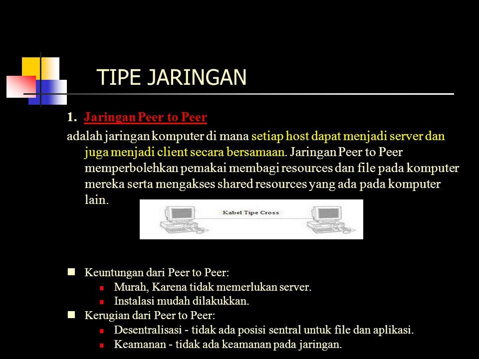 TIPE JARINGAN (lanjutan) 2.