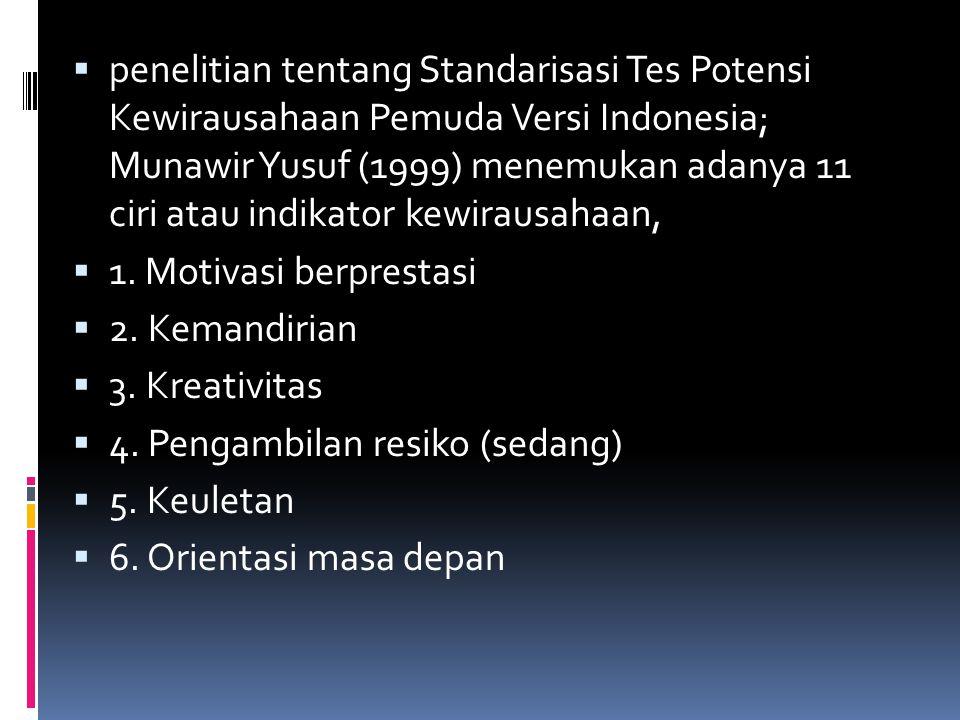  7.Komunikatif dan reflektif  8. Kepemimpinan  9.
