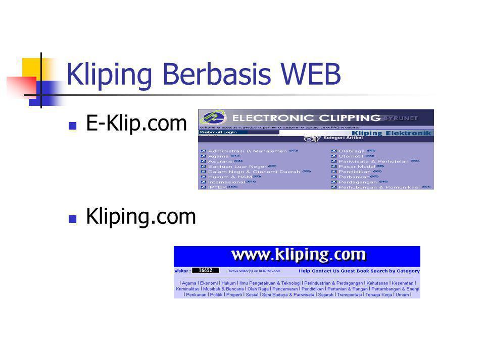 Kliping Berbasis WEB E-Klip.com Kliping.com