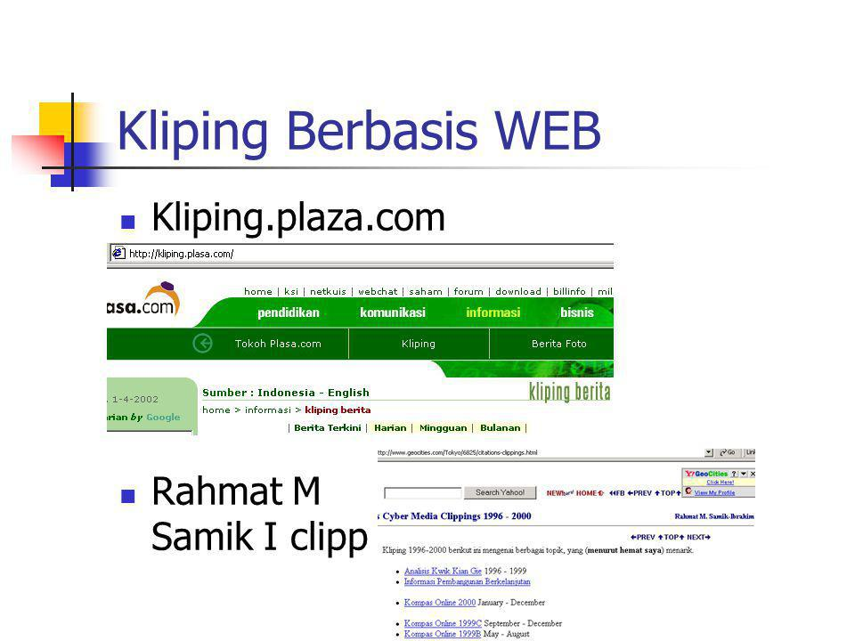 E-KLIP Berbasis WEB http://horizon-line.com/eddykoko/ Kliping Kompas