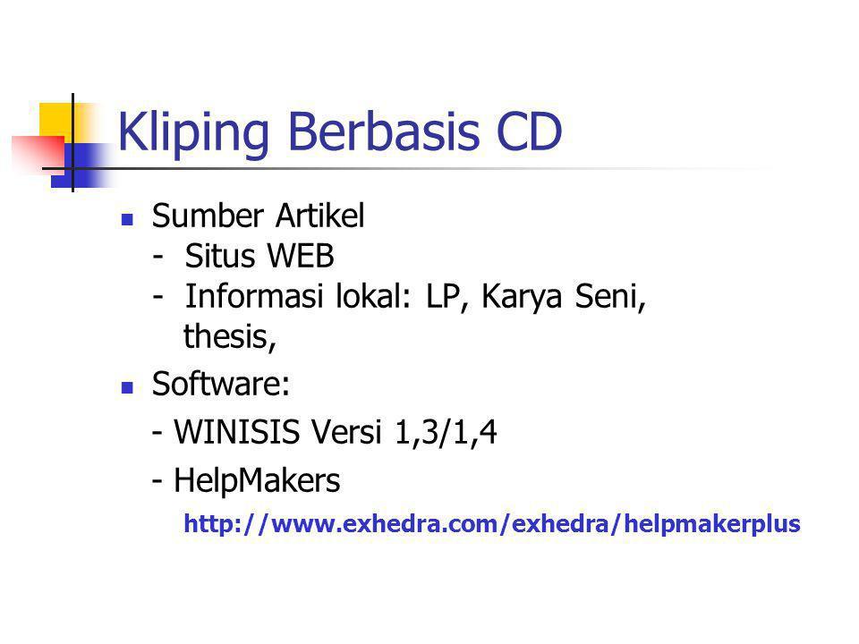 Kliping Berbasis WEB Kliping.plaza.com Rahmat M Samik I clipp